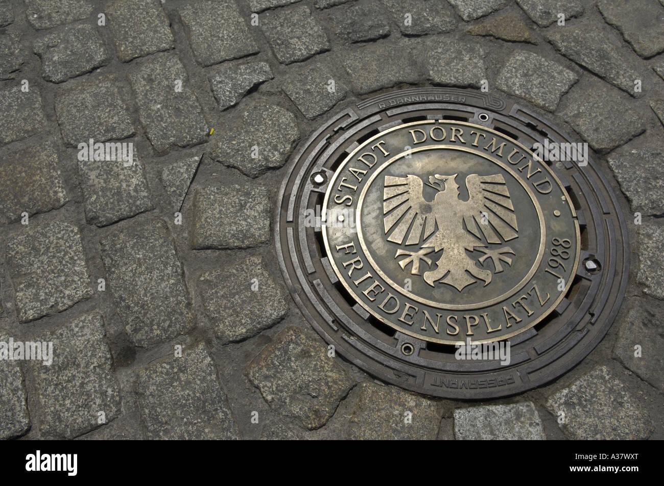 stadt dortmund friedenplatz germany german deutsch deutschland grid ...