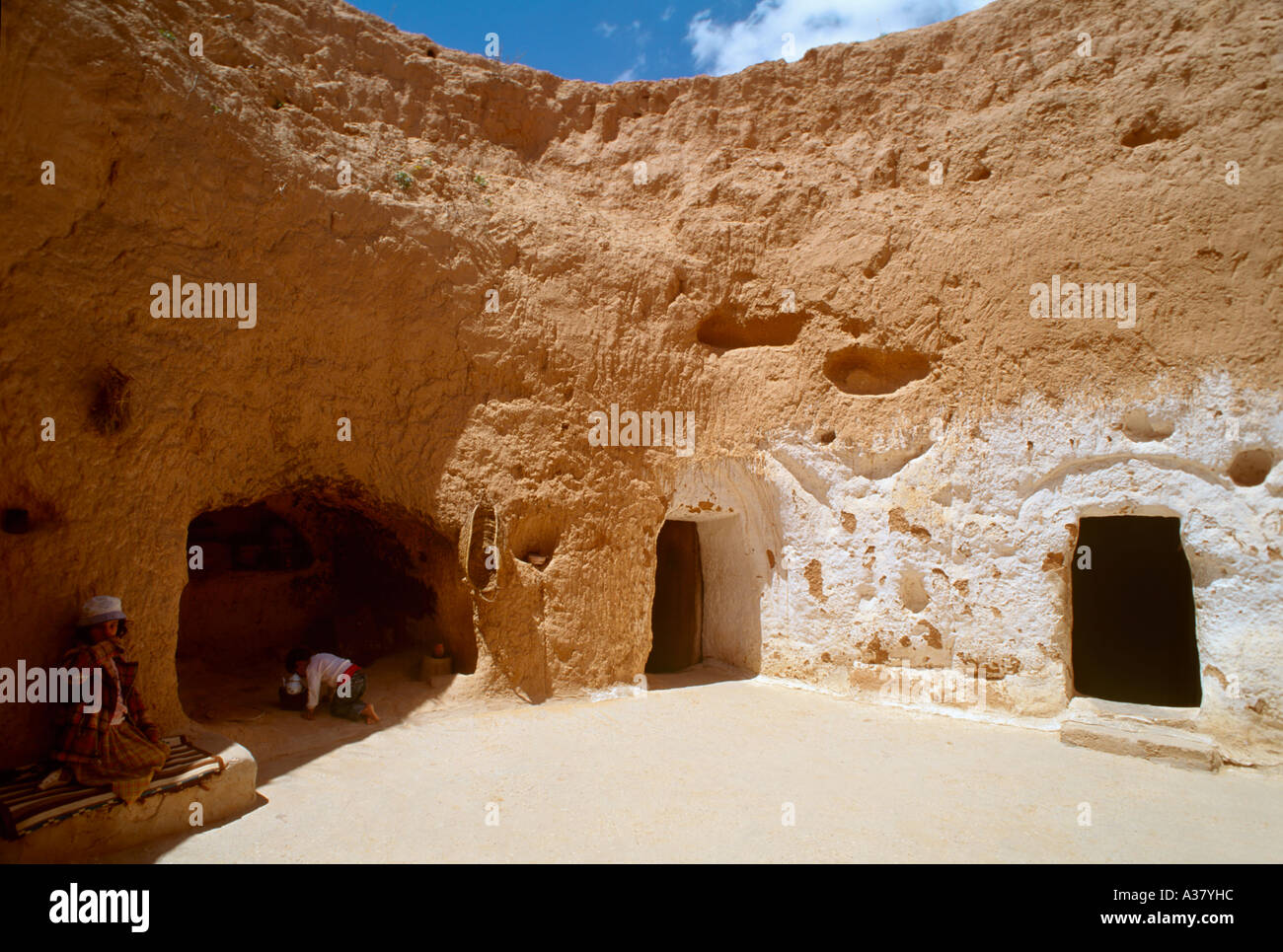 Typical underground cave house at Matmata location