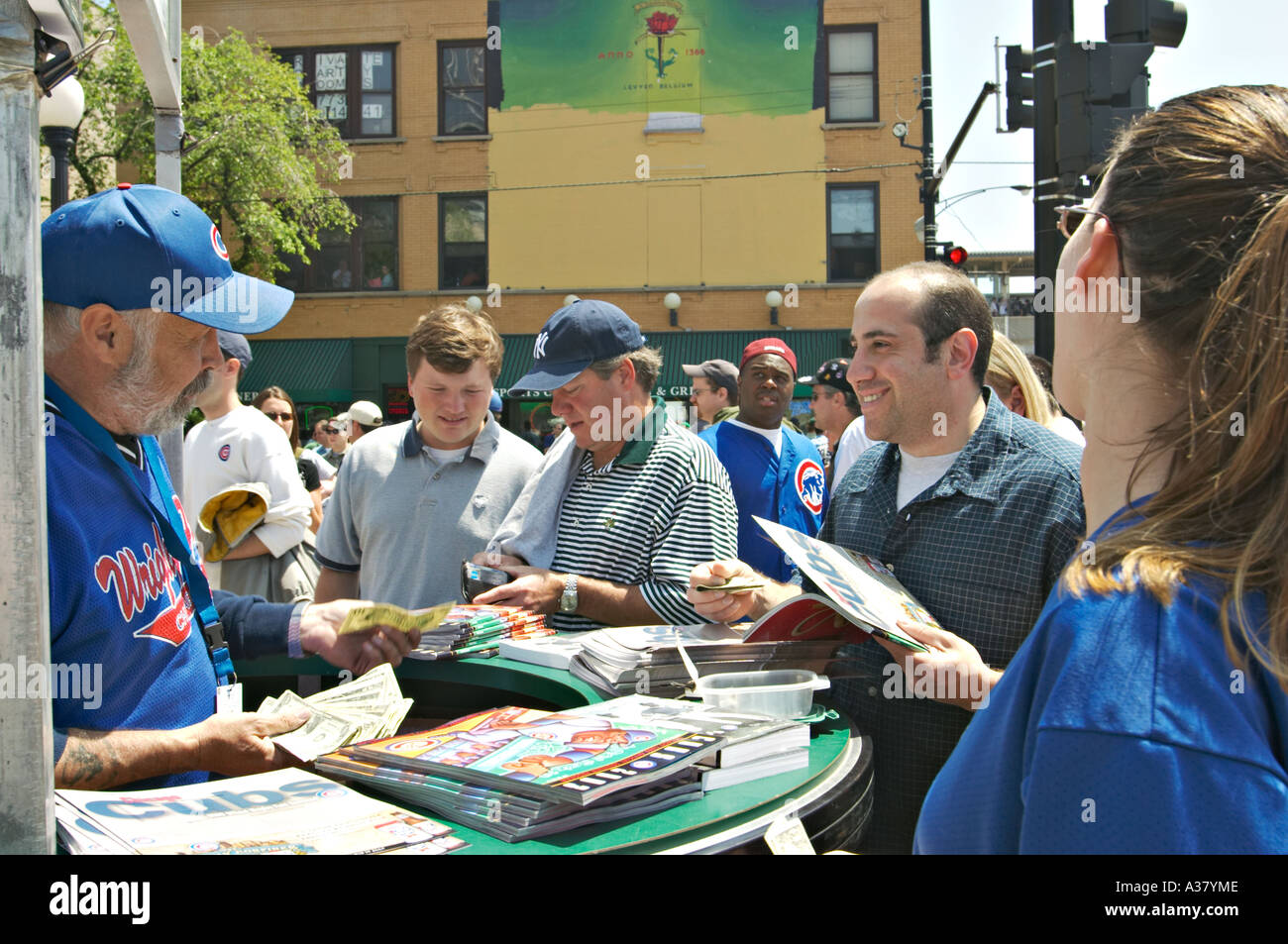 Baseball Chicago Illinois Man Sell Programs And Score Cards