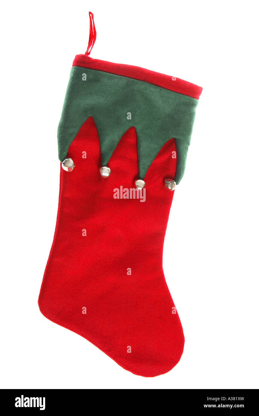 Elf Stocking - Stock Image