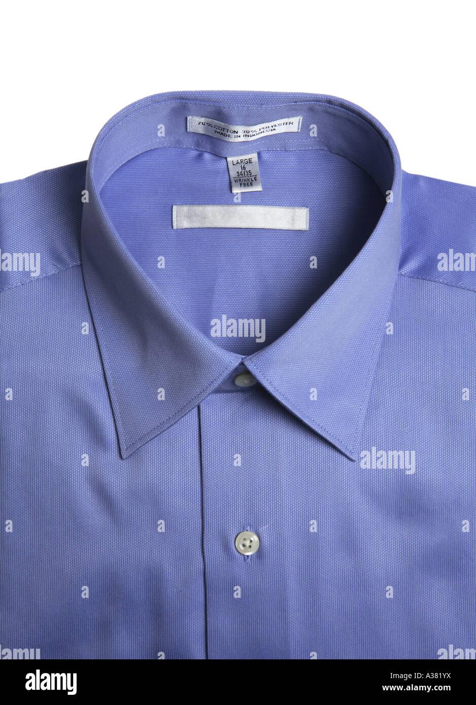 Blue Collar Shirt - Stock Image