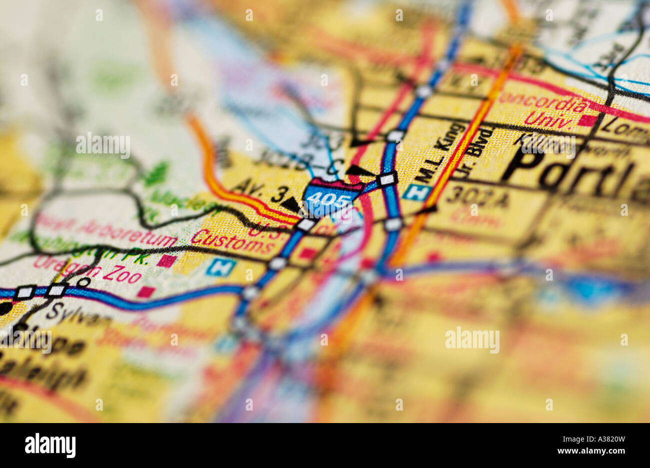 Map Detail - Stock Image
