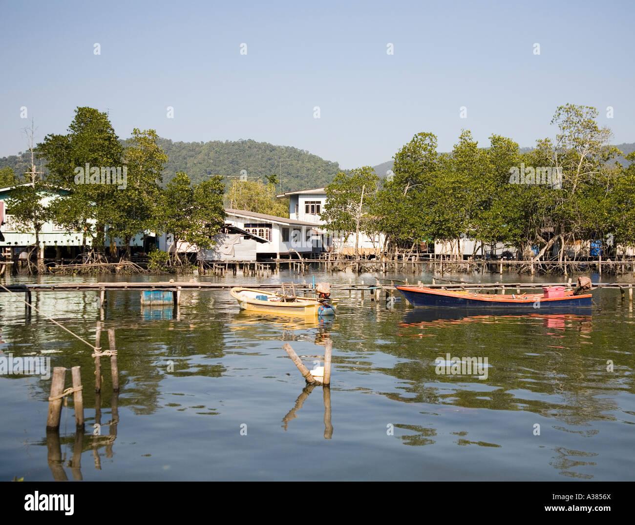 Ban Salak Phet Fishing Village Ko Chang Thailand South East Asia - Stock Image