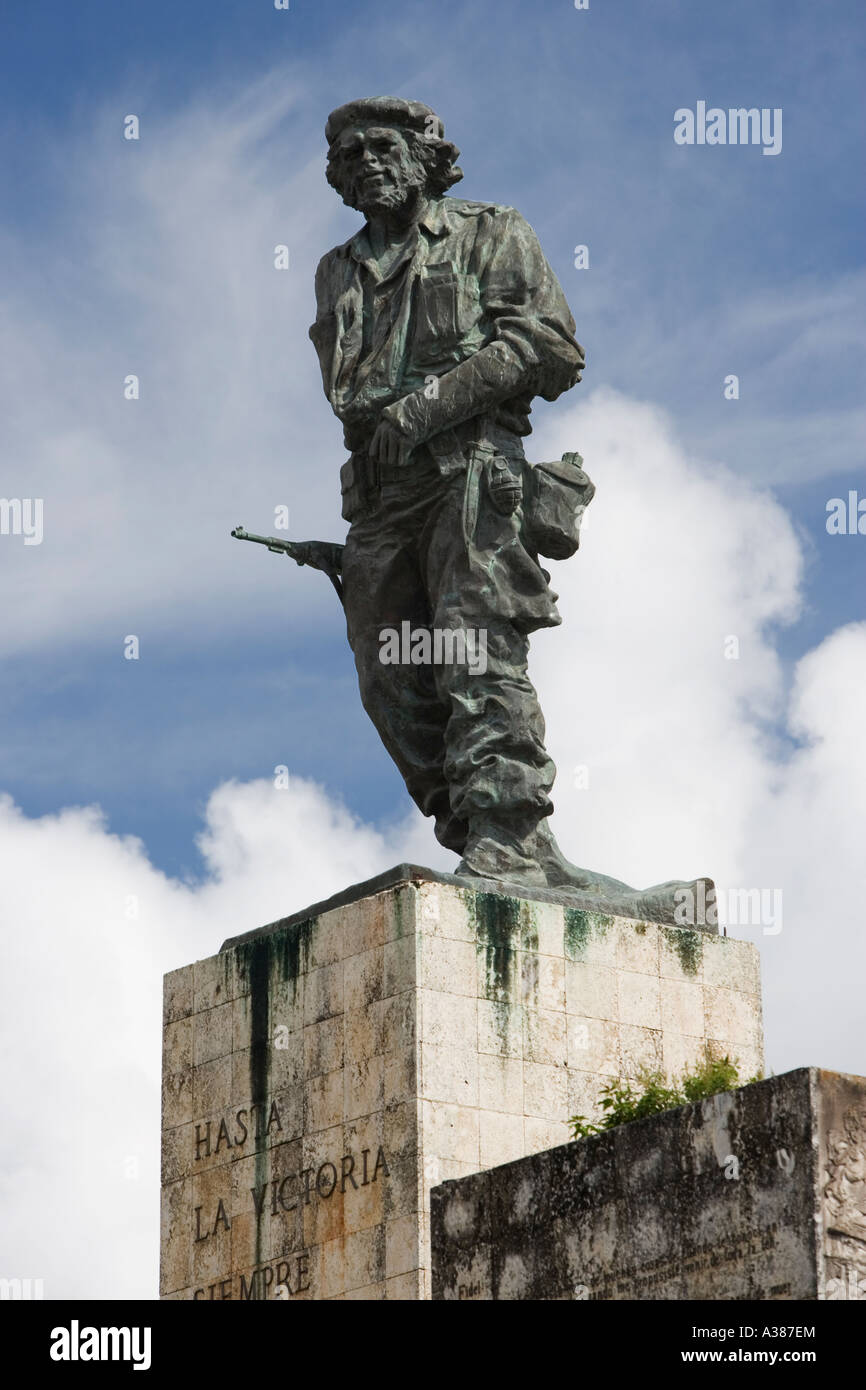 A statue of Che is seen in this photo taken at the Che Guevara monument in Santa Clara - Stock Image