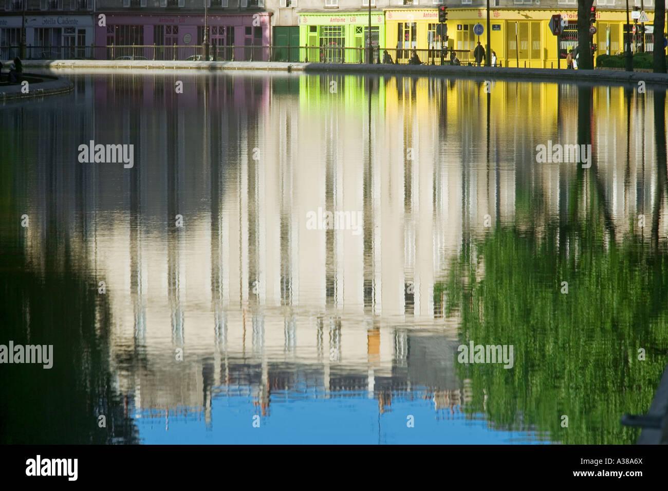 CANAL SAINT-MARTIN - PARIS - FRANCE - Stock Image