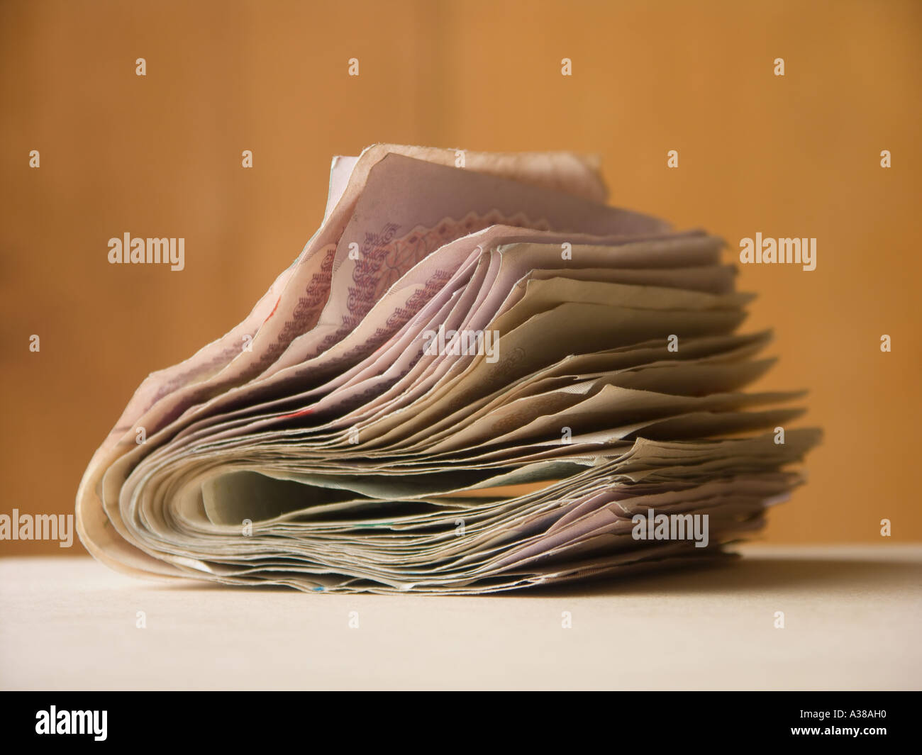 A wad of money - Stock Image