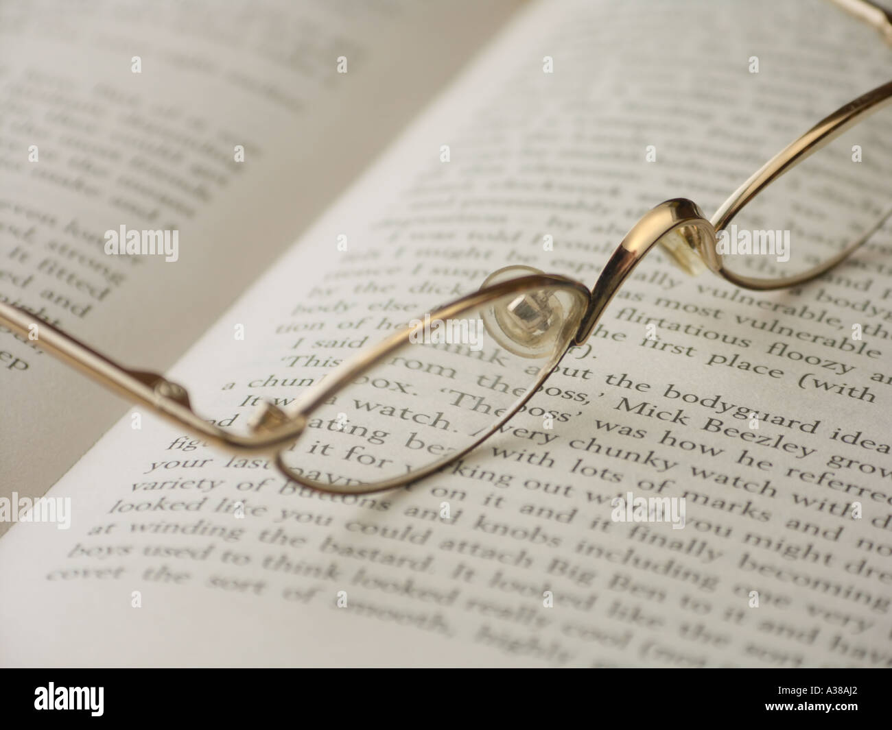 394115a1bb2 Gold Rimmed Spectacles Stock Photos   Gold Rimmed Spectacles Stock ...