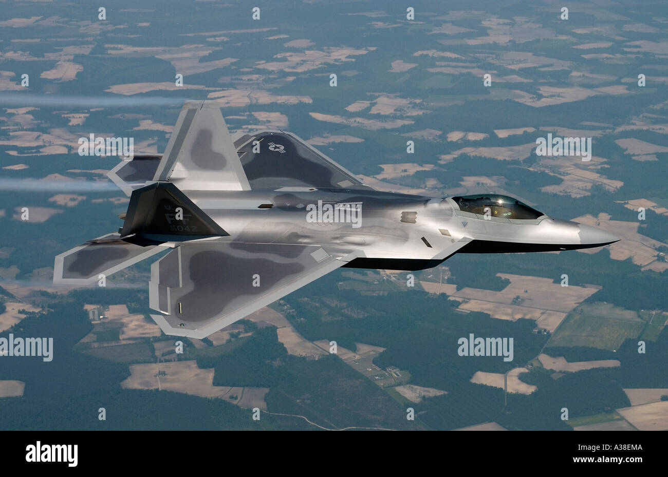FA 22 Raptor fighter plane - Stock Image