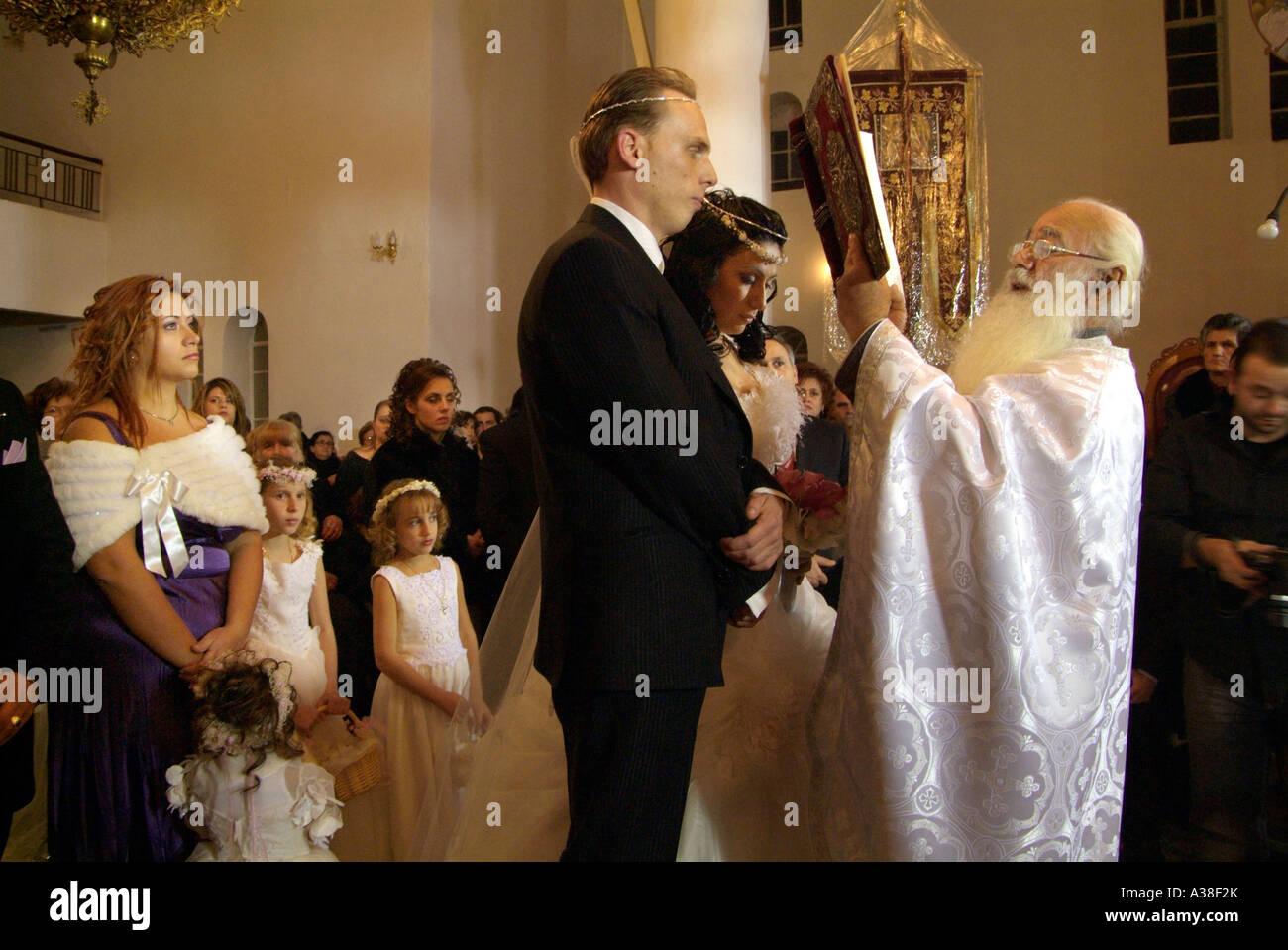 Greek Orthodox Wedding Ceremony Stock Photo: 10705098 - Alamy