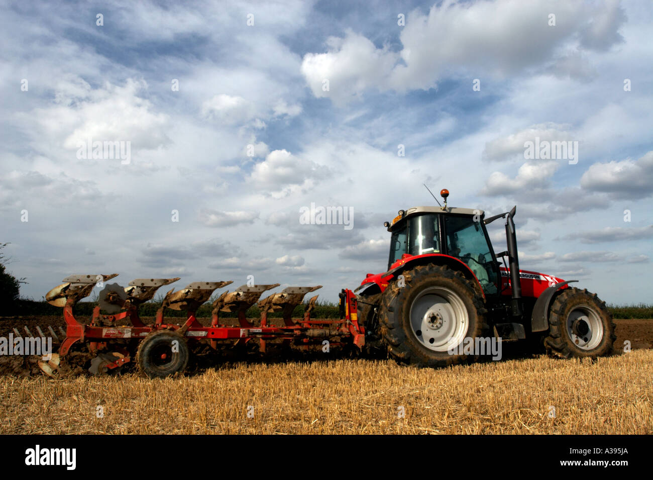 Tractor and Plough - Stock Image