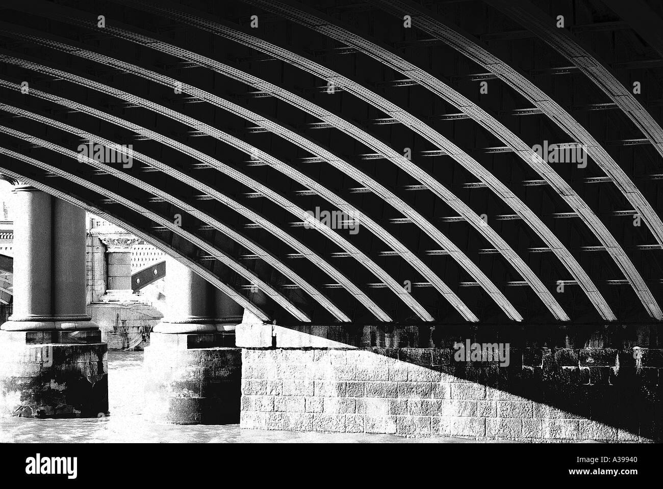 The Bridge Southwark Bridge - Stock Image