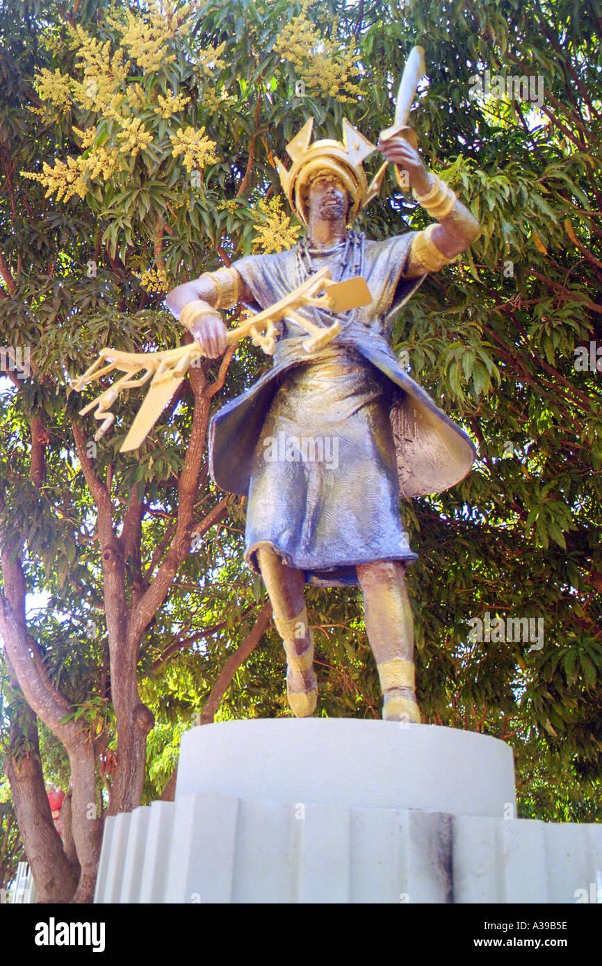 African Gods Statues by Tati Moreno in Prainha, Brasilia - Stock Image