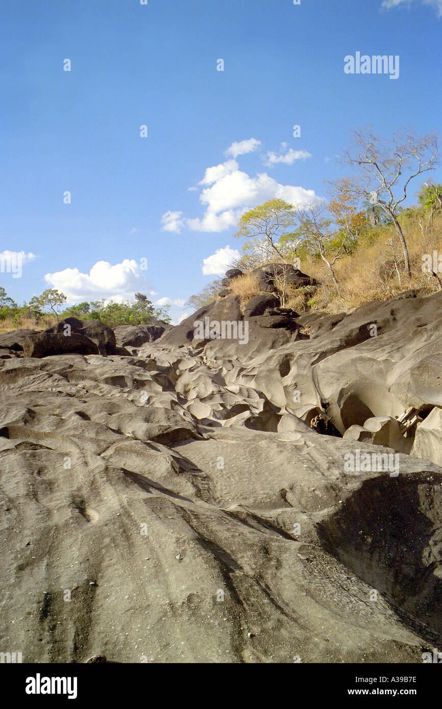 Vale da Lua Moon Valley in Parque Nacional da Chapada dos Veadeiros Stock Photo