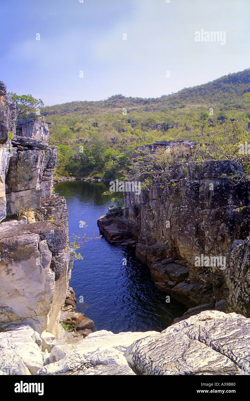 Canyon 2 in Parque Nacional da Chapada dos Veadeiros - Stock Image
