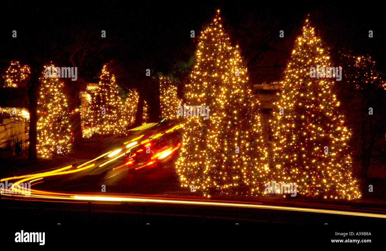 Mcadenville Christmas Lights.Mcadenville North Carolina At Christmas Stock Photo 236426