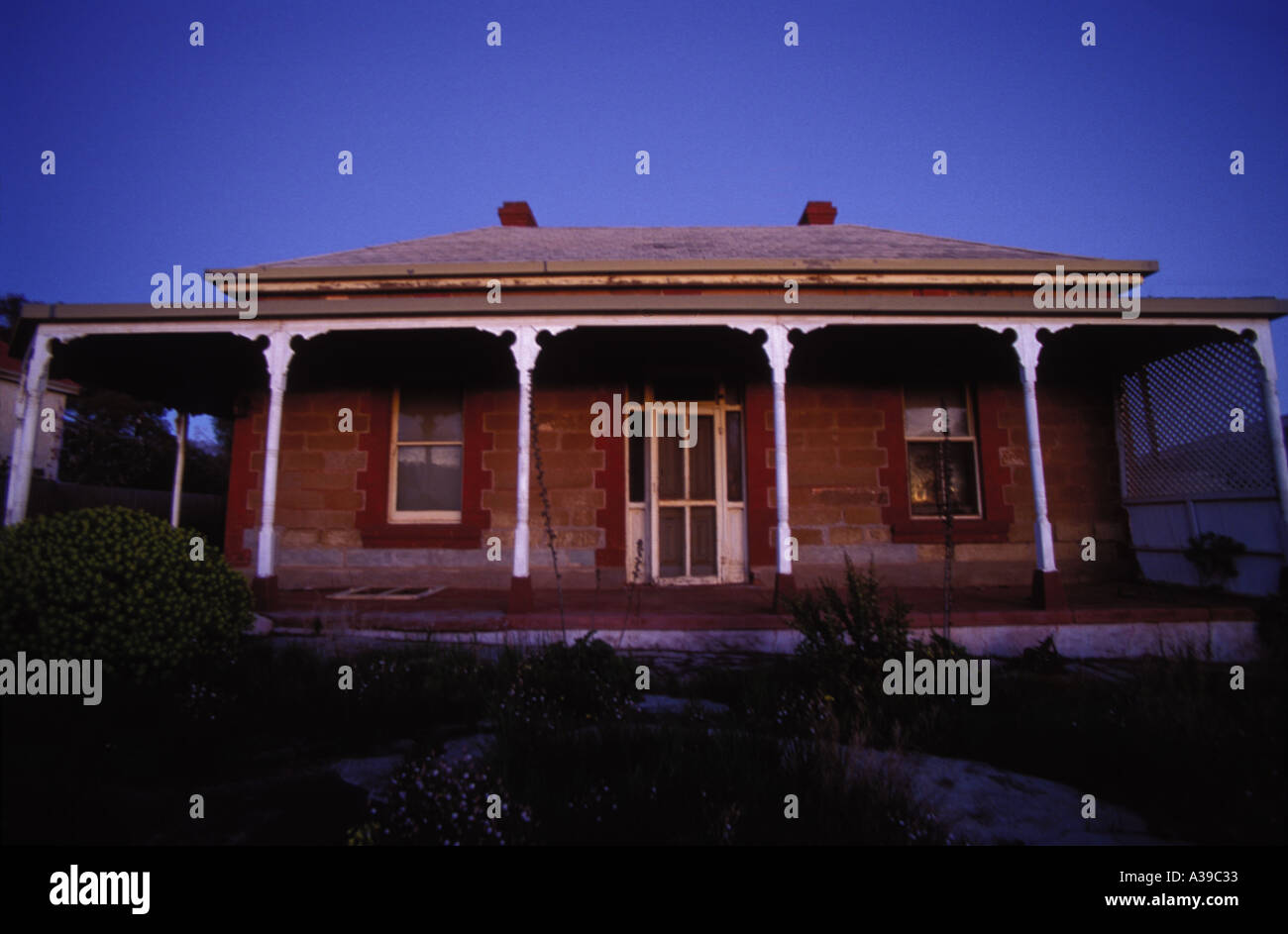 Old Home Peterbrough South Australia - Stock Image