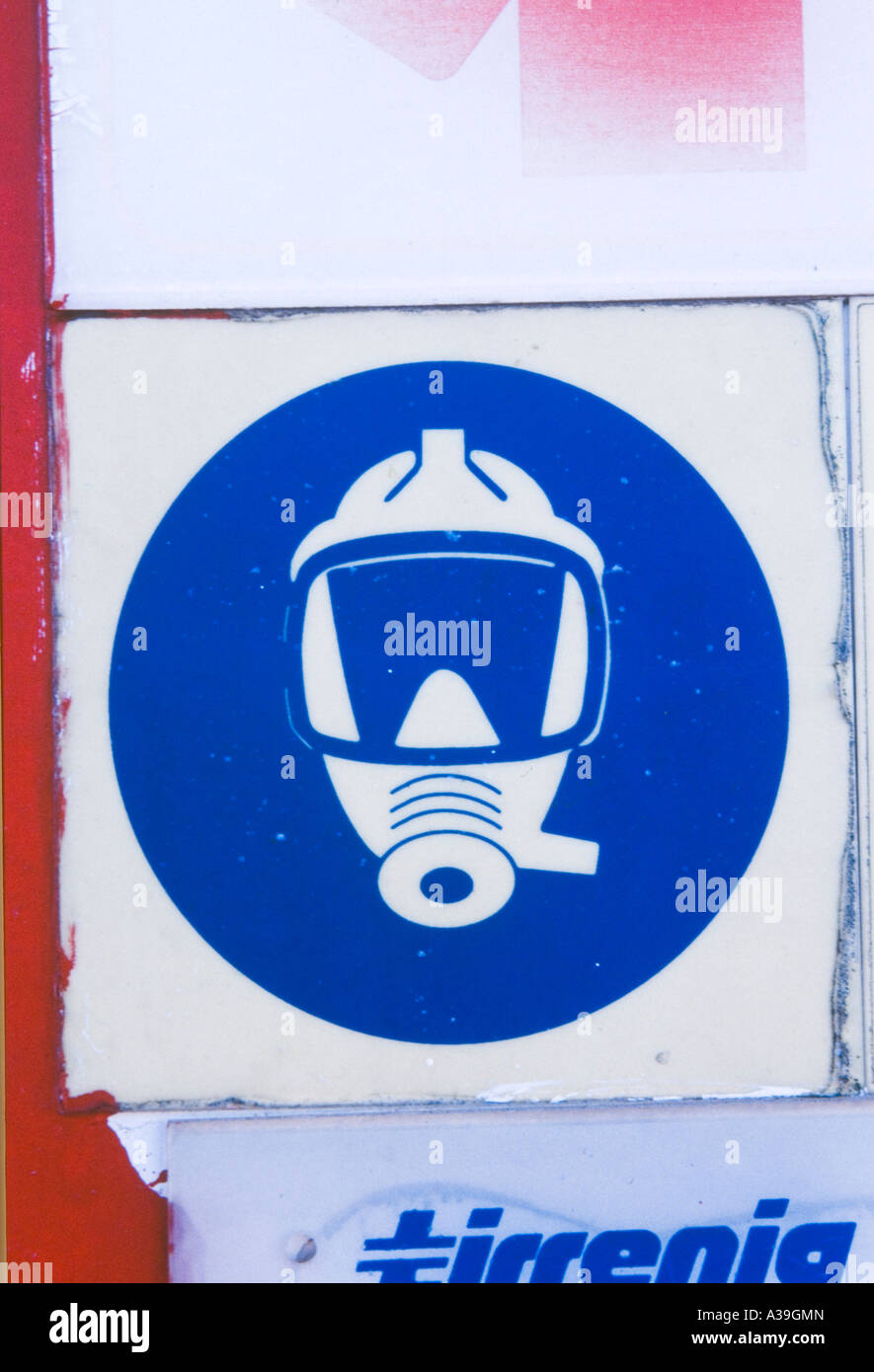 sub ,sign, indication ,detail, close up ,ship ,boat,ferry ,squared ,circle ,sea ,marine ,information ,mask   ,  - Stock Image