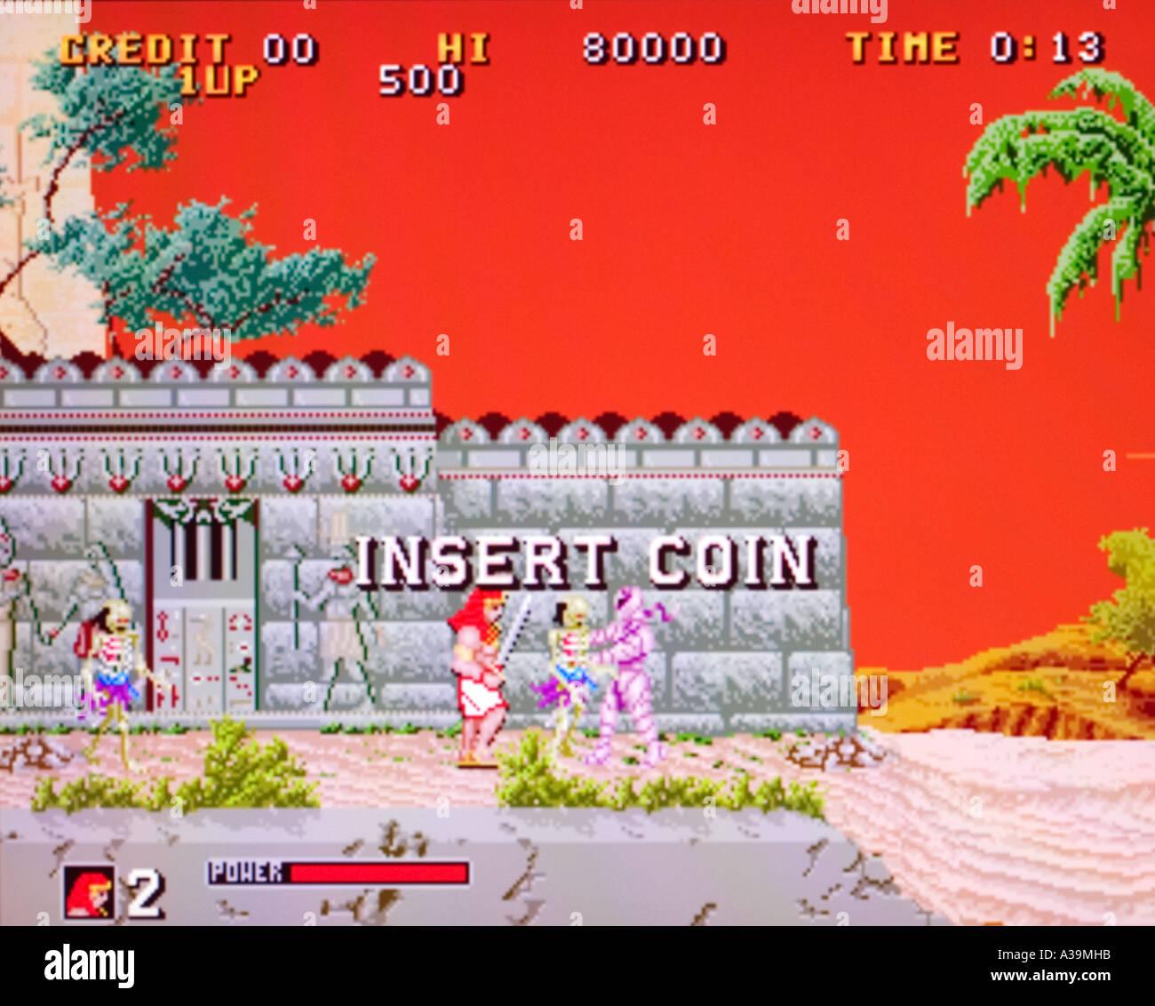 Big Karnak Gaelco SA 1991 vintage arcade videogame screenshot - EDITORIAL USE ONLY - Stock Image