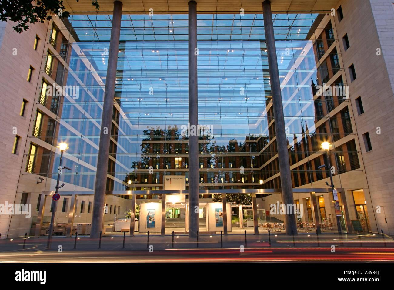 Berlin department of foreign affairs Berlin Auswaertiges Amt Aussenansicht - Stock Image
