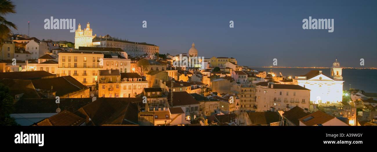 Portugal Lisbon Alfama Miraduro Santa Luzia - Stock Image