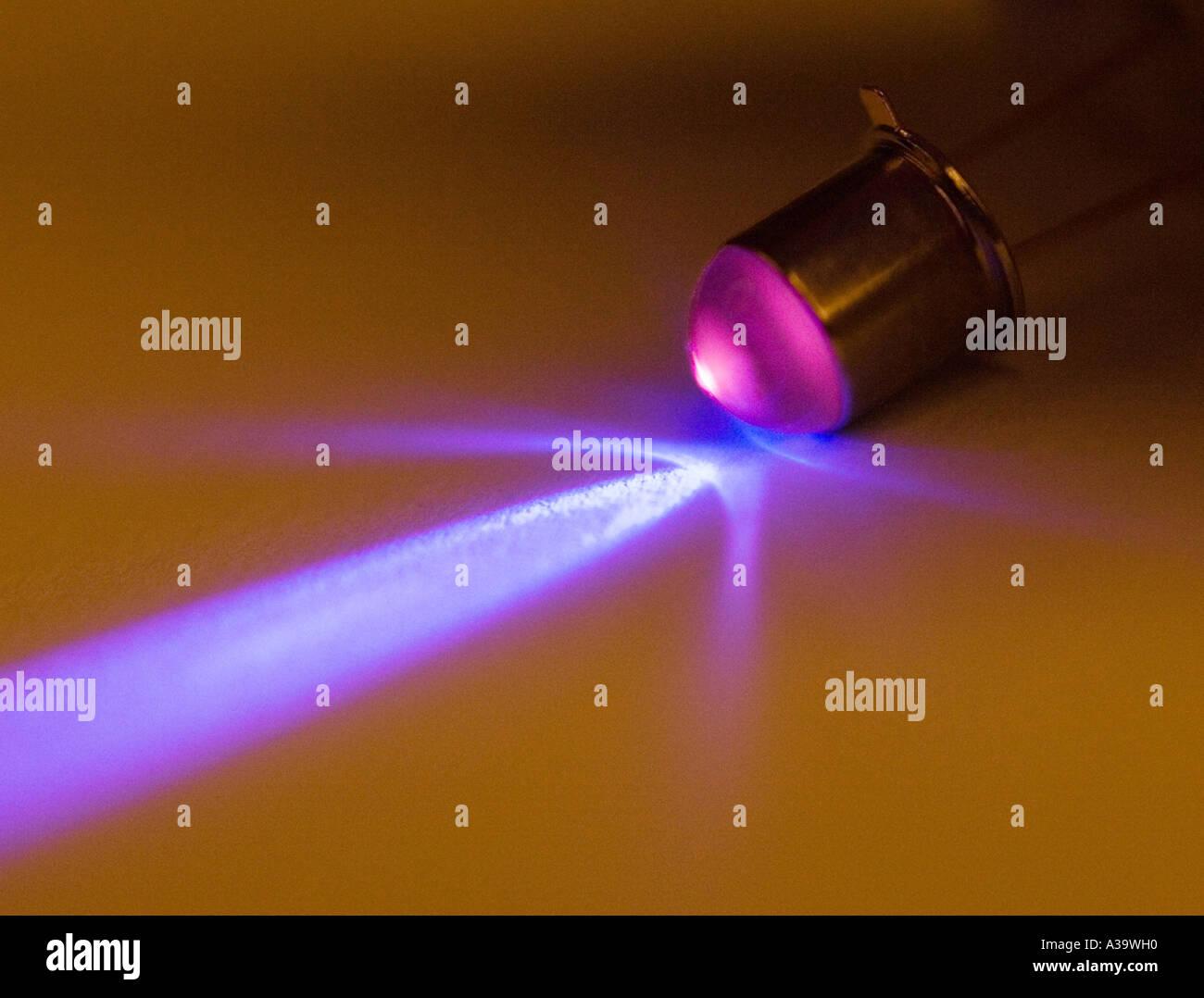 ultraviolet light emitting diode - Stock Image