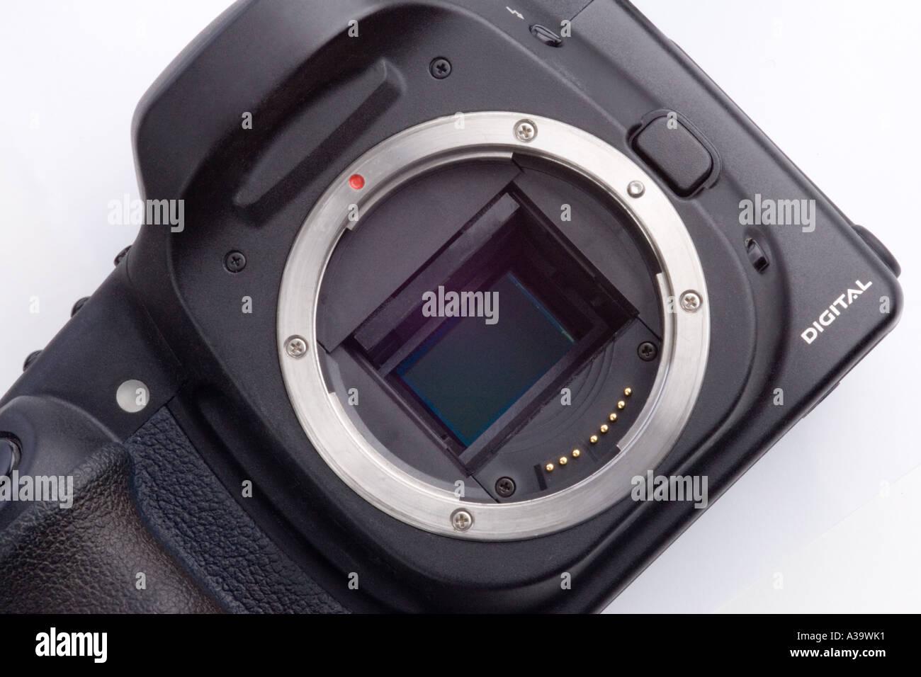 SLR digital camera Stock Photo