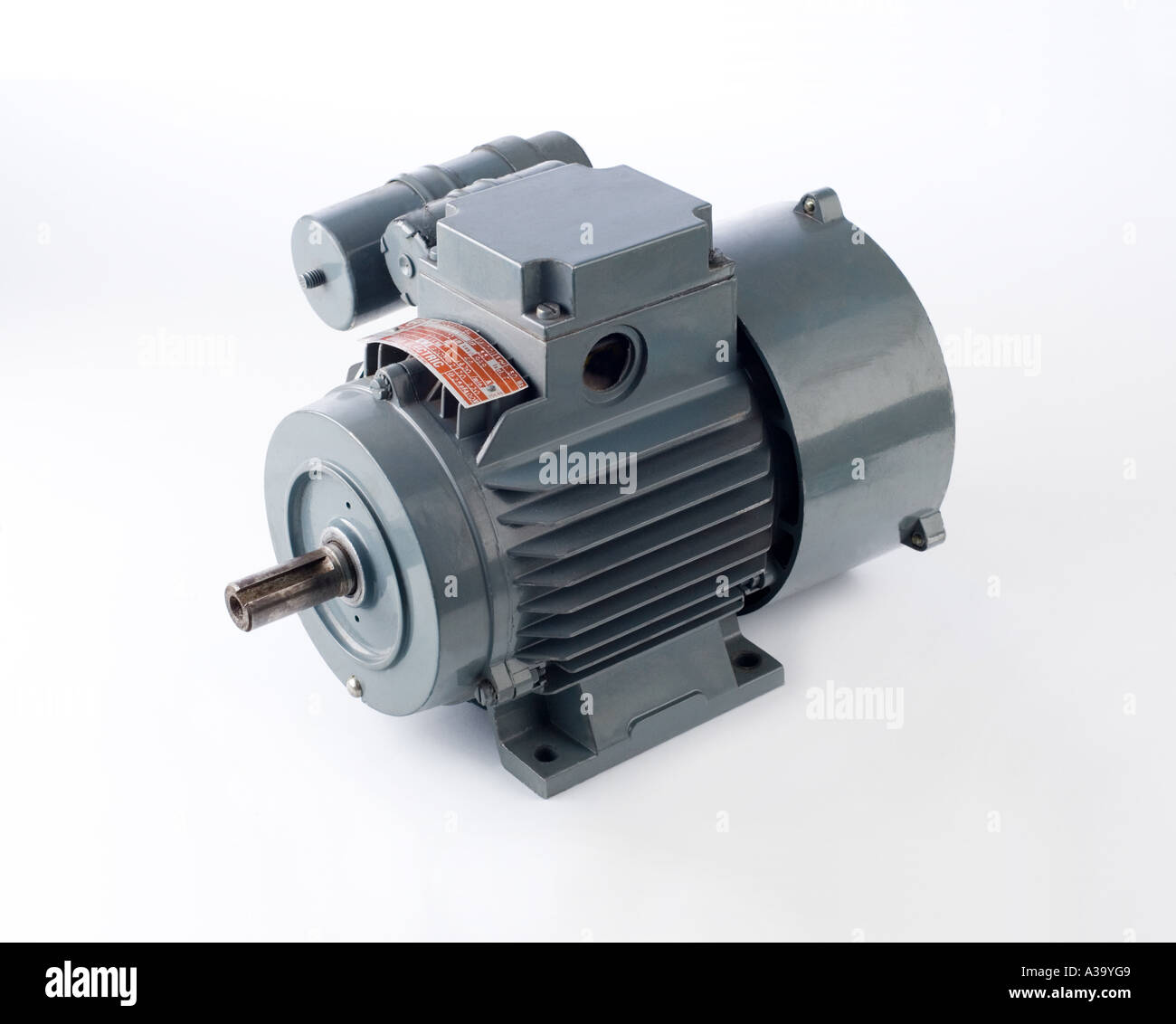 industrial electric motor 1 hp ac 1450 rpm - Stock Image