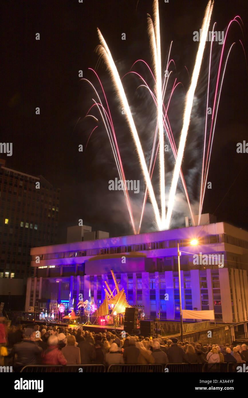 Festival of light in Glasgow 2005 Stock Photo