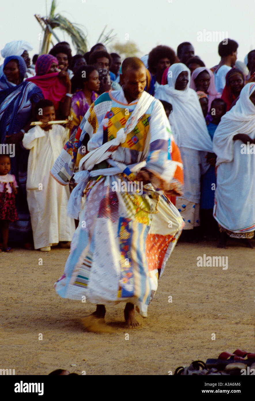 Omdurman Sudan Dervish Dancers (answar) Friday After Sunset (sufi) Call To Prayer & Dance Reciting Quran - Stock Image