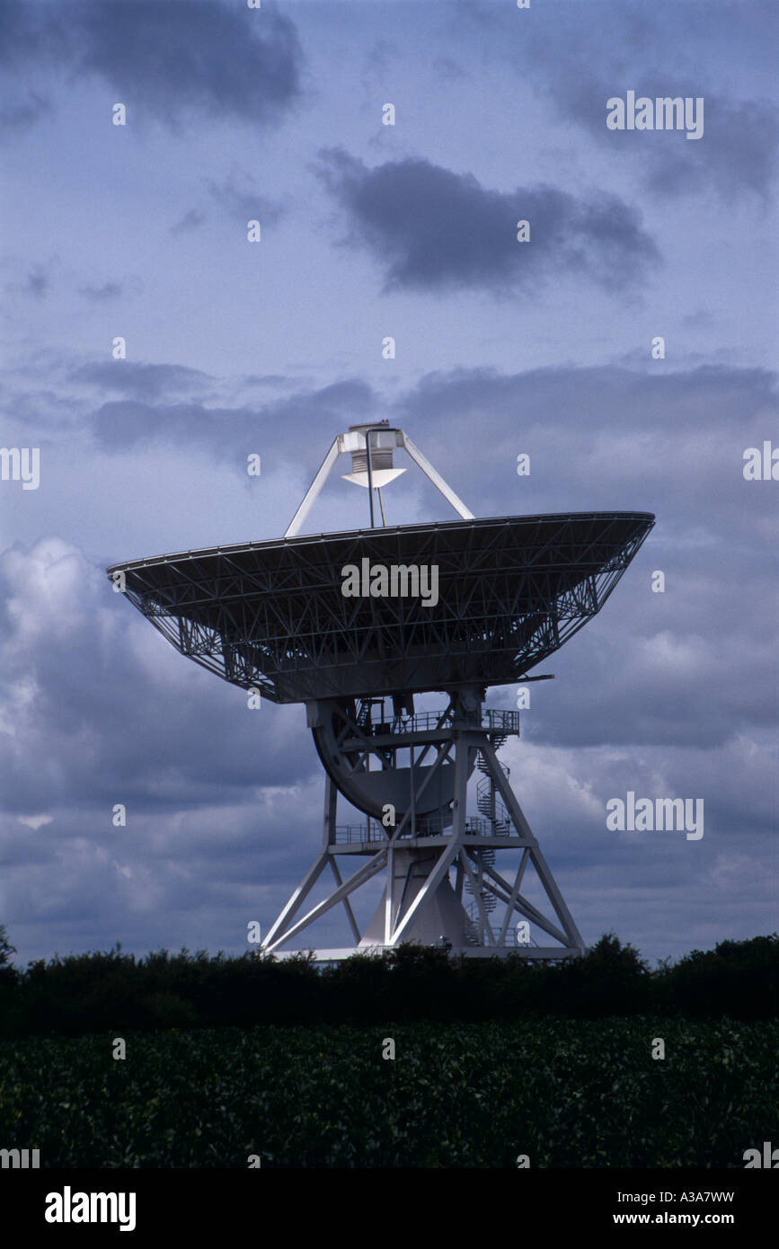 32 metre radio telescope Barton Cambridge - Stock Image