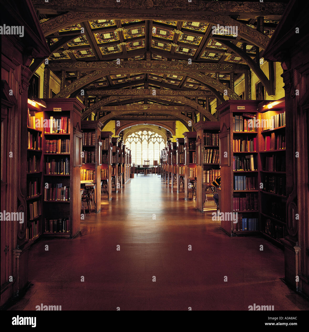 Bodleian Library Oxford Duke Humfreys Library Stock Photo