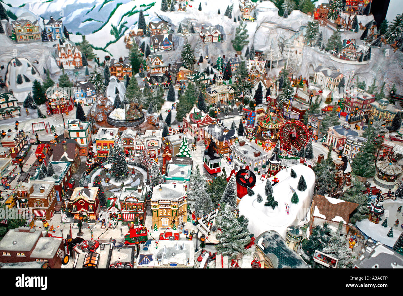 Christmas Village Display.Christmas Village Display Stock Photo 10721829 Alamy