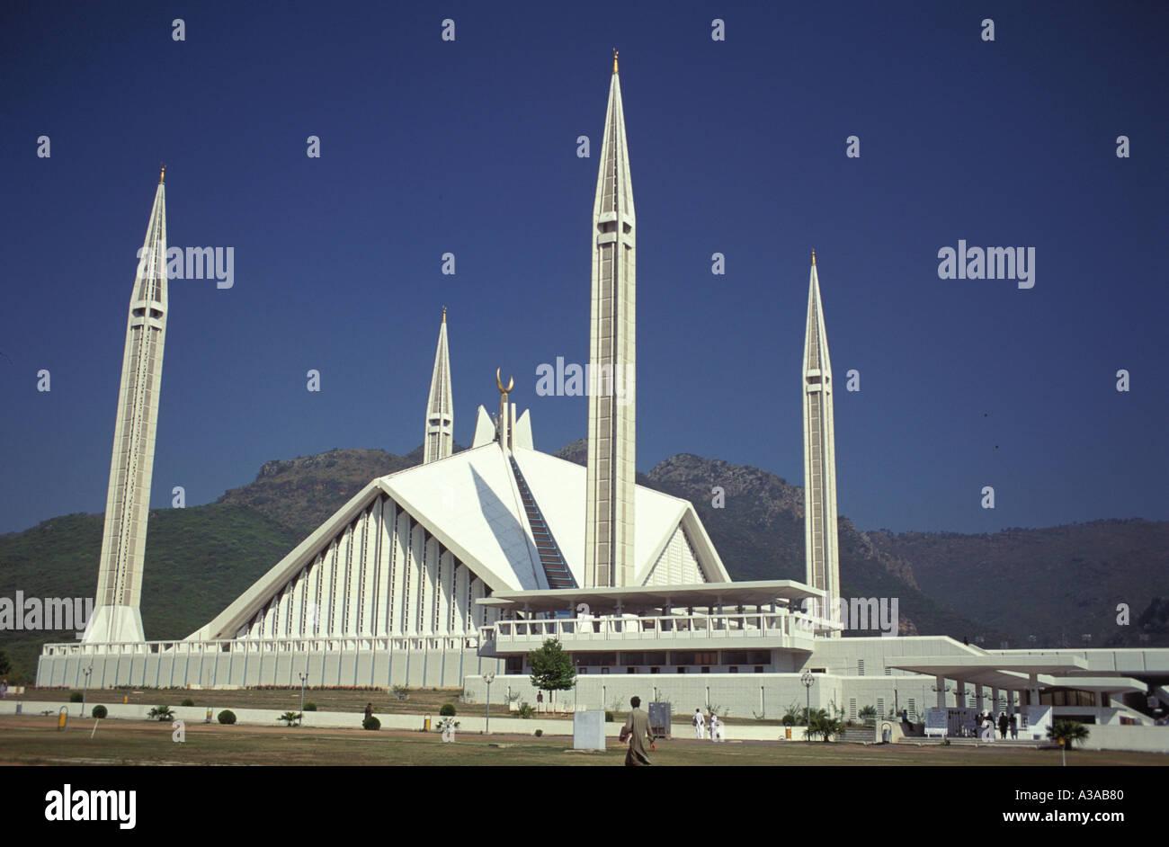 Faisal Mosque in Islamabad Pakistan - Stock Image