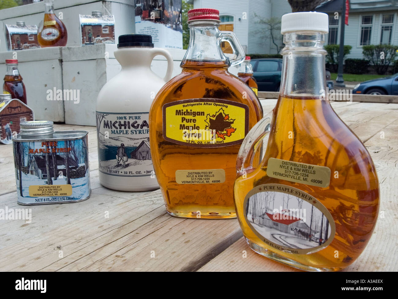 Maple Syrup Festival Bottles Vermontville Michigan USA