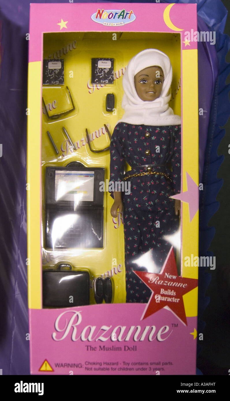 Razanne The Muslim Doll Close in box Stock Photo