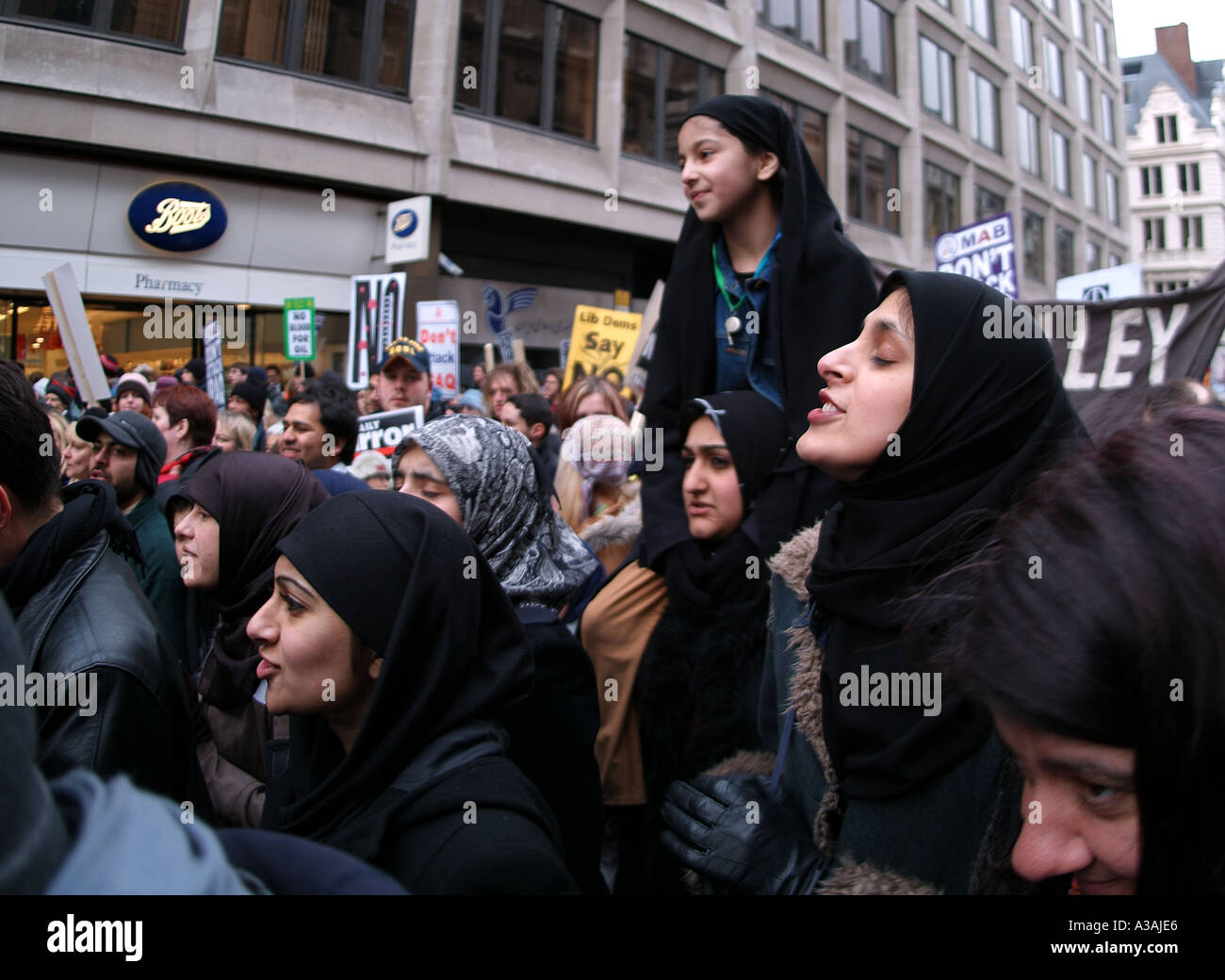 Marching Muslims - Stock Image