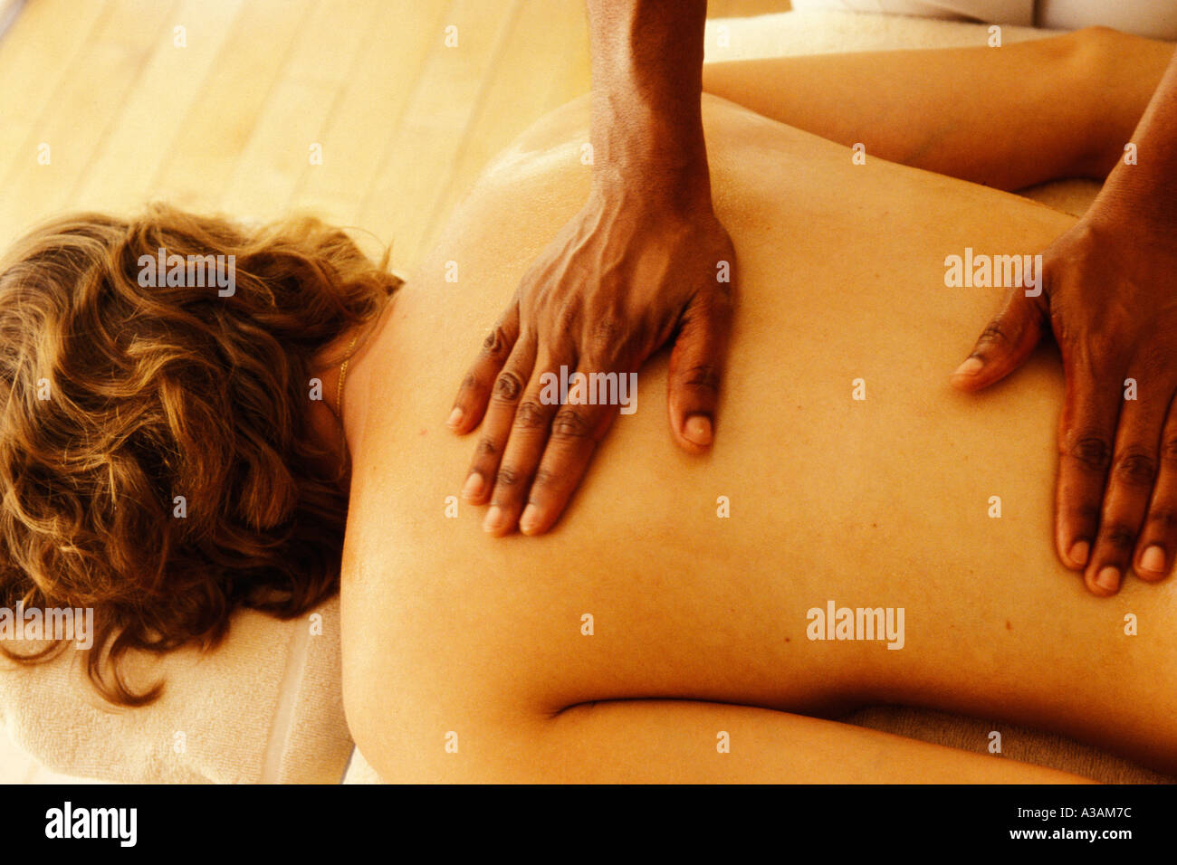 Barbados, St James, Sandy Lane spa, massage - Stock Image