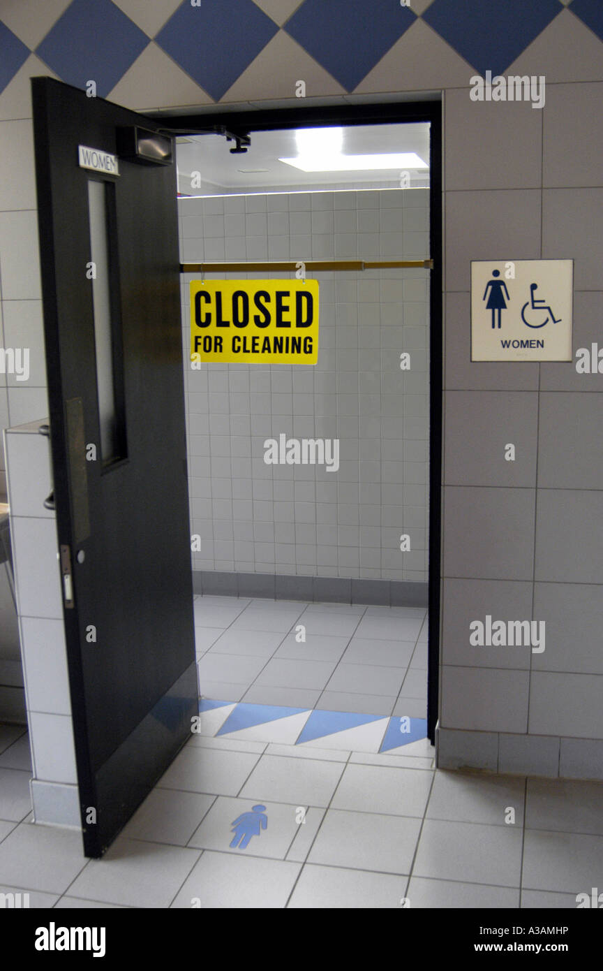 p20 126 highway rest area womens bathroom closed for cleaning - Womens Bathroom