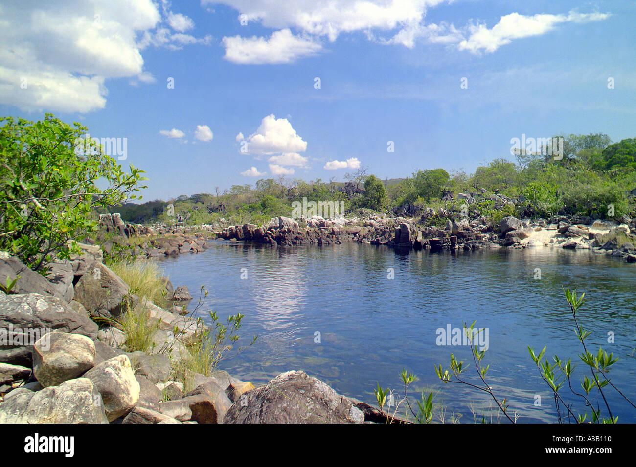 Canyon 2 in Parque Nacional da Chapada dos Veadeiros Stock Photo
