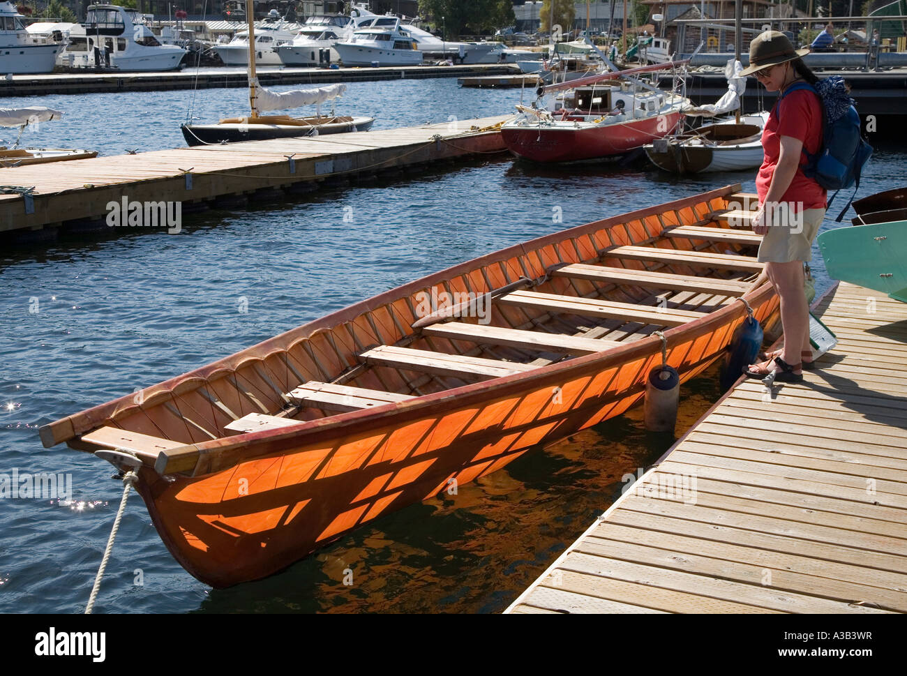 Umiak Boat Made From Oak Cedar And Douglas Fir Center For Wooden Boats Seattle USA