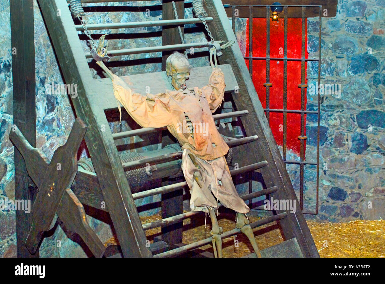 Torture scene at the Museum of the Inquisition Guanajuato Mexico - Stock Image