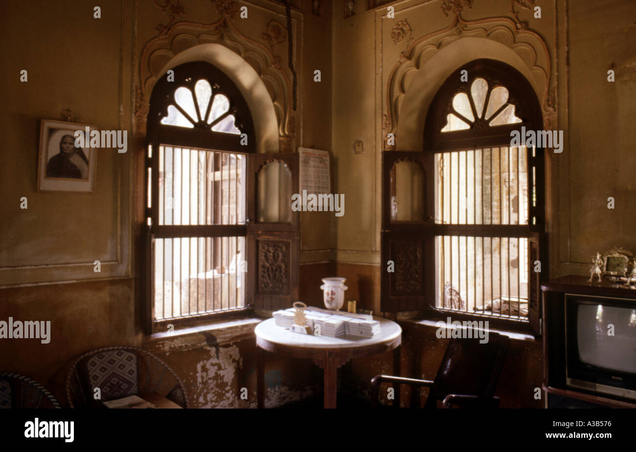 Old Parsi house in Ahmedabad Gujarat India - Stock Image