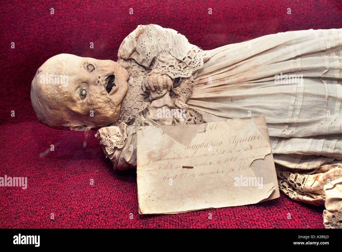 Mummy Museum known as El Museo de las Momias Guanajuato Mexico - Stock Image
