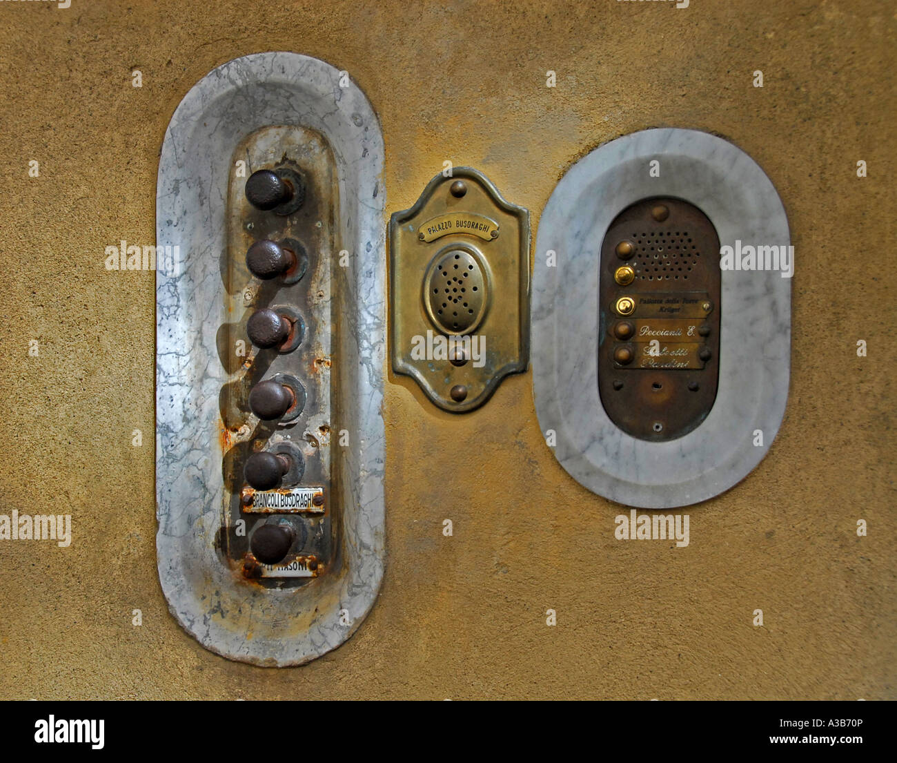 Apartment Bell Pushes And Door Entry System Lucca Tuscany