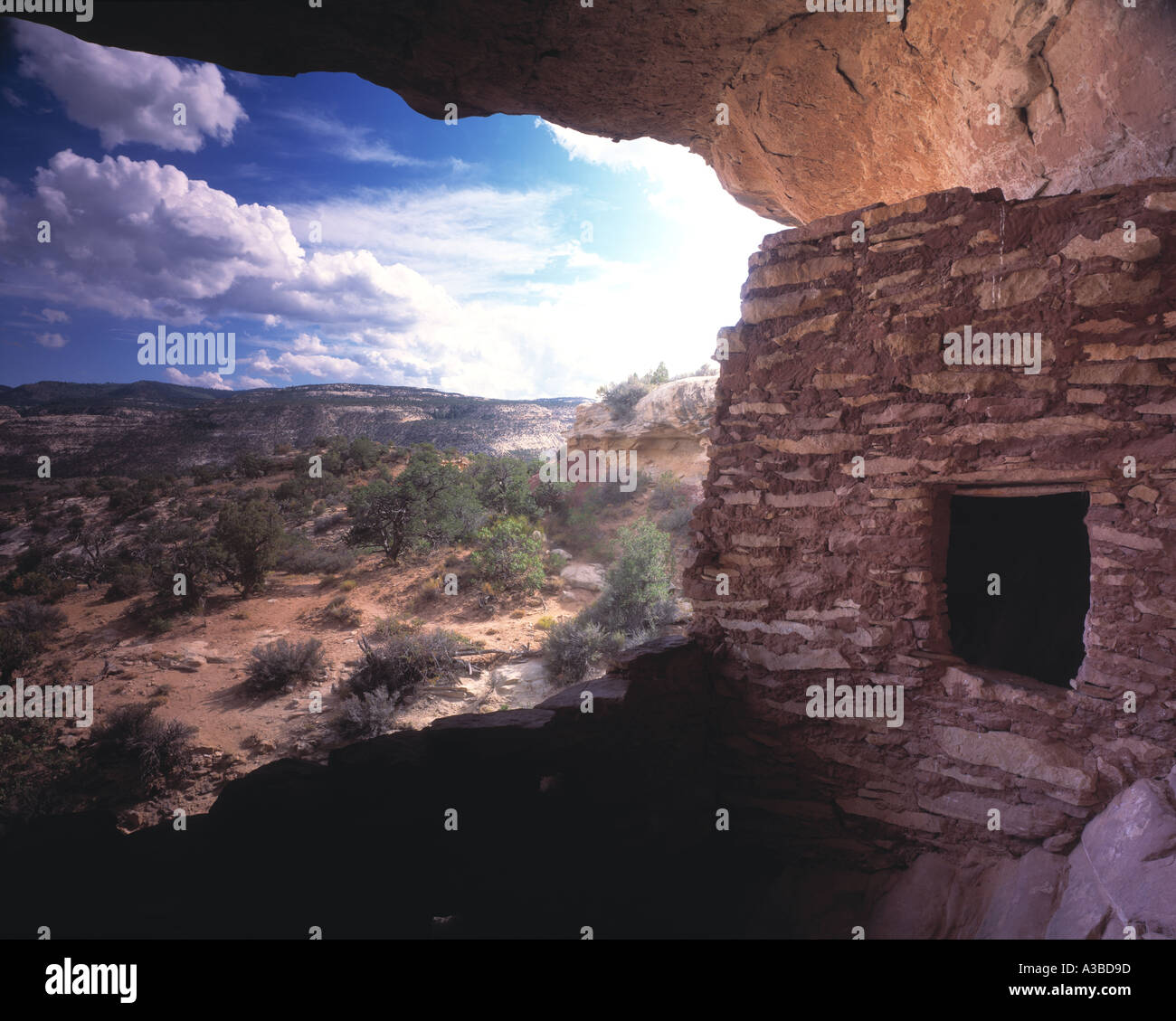 Anasazi Cliff Dwelling Southern Utah Stock Photo