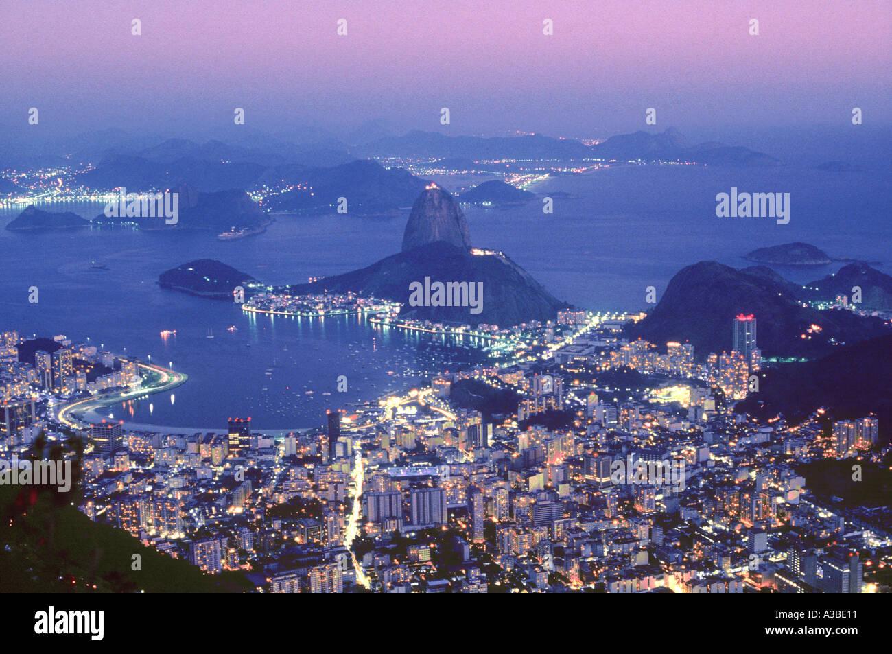 Pao de Azucar Rio de Janeiro Brazil - Stock Image