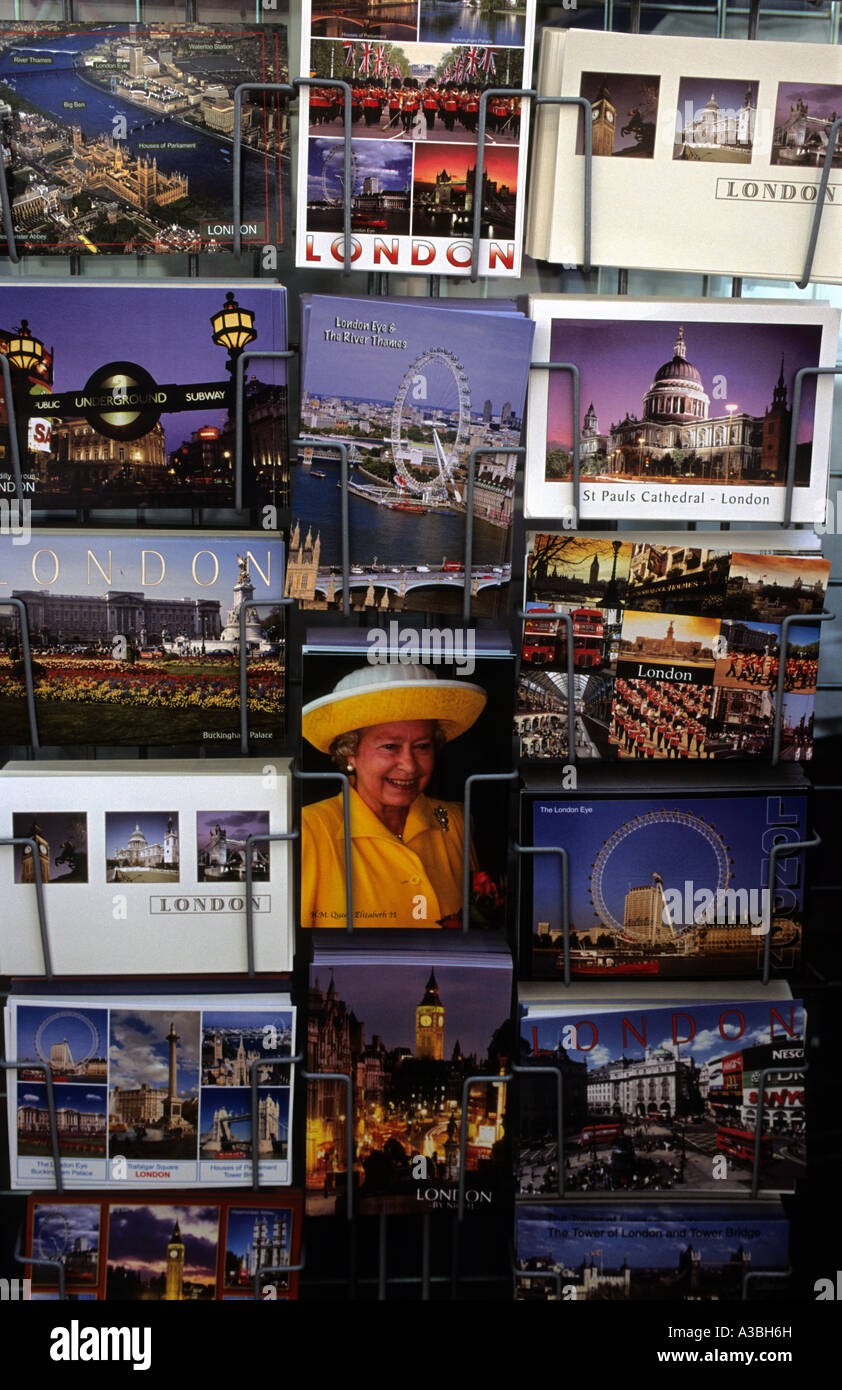 Postcards for sale, Westminister, London, UK. - Stock Image
