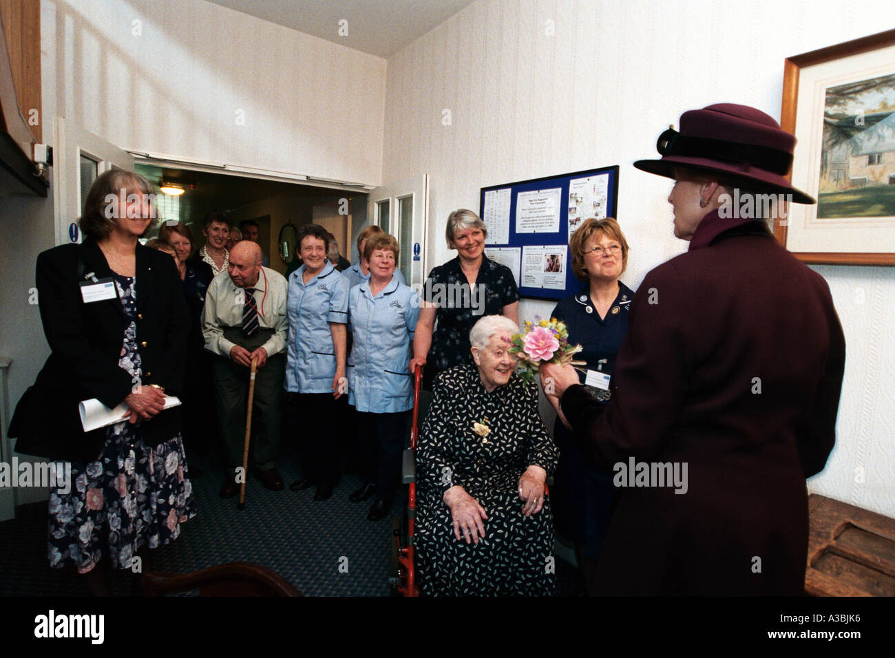 Princess Alexandra after her Royal visit to an old people's home in Malvern, Midlands - Stock Image