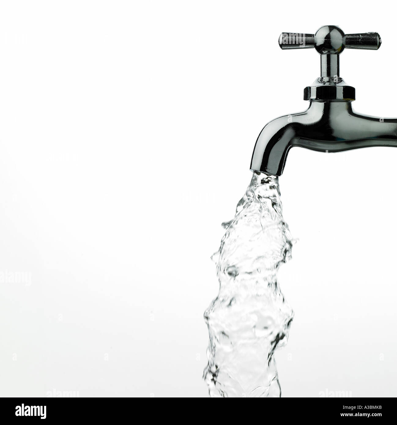A water tap with water - Stock Image
