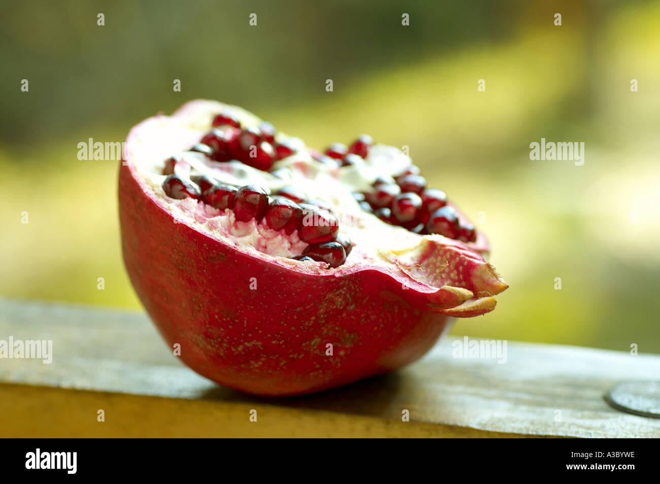 a half of pomegrante - Stock Image